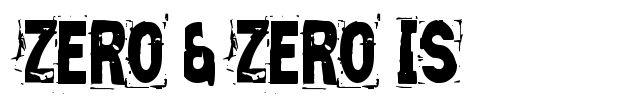 Zero&