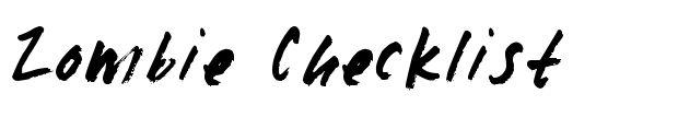 Zombie checklist alpha