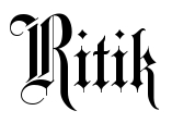 Ritik Tattoo Letter Scetch Download
