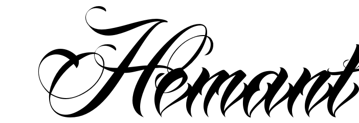 hindi calligraphy fonts for tattoos download