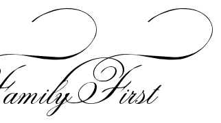 """""""Family First"""" - tattoo lettering, download free scetch"""