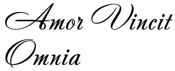 """Amor Vincit Omnia "" - tattoo font, download free scetch"
