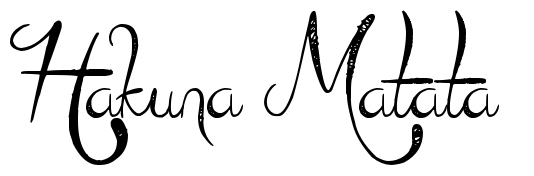 Hakuna Matata Tattoo Letter Scetch Download