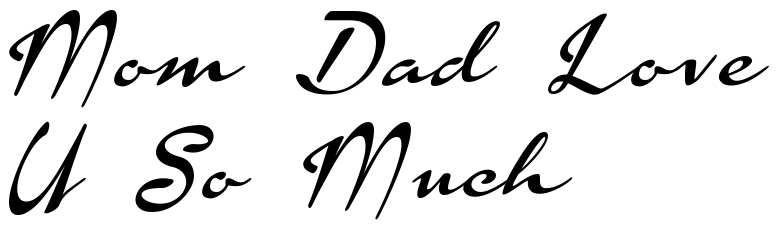 Mom Dad Love U So Much Famous Tattoo Words Download Free Scetch