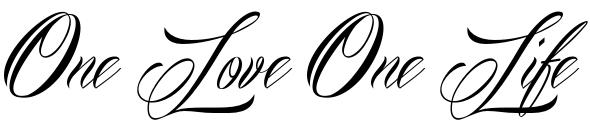 Тату эскиз одна любовь надпись