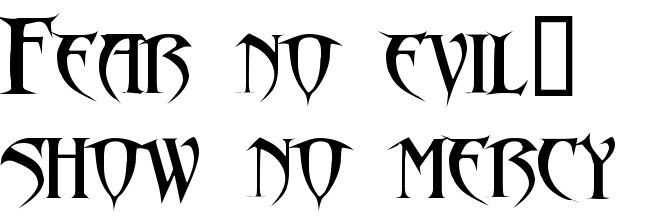 Fear No Evil Show No Mercy Tattoo Font Download Free Scetch
