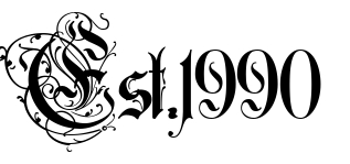 Est 1990 Free Tattoo Lettering Scetch