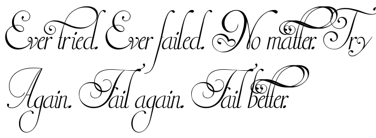 Ever tried  Ever failed  No matter  Try Again  Fail again  Fail
