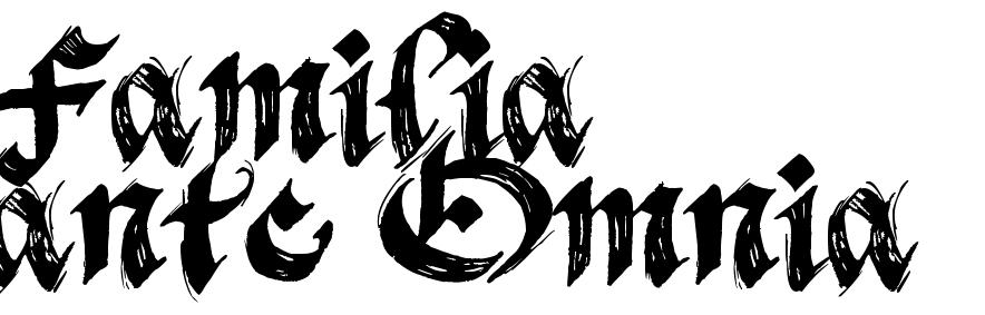 """Estremamente Familia ante Omnia"""" - tattoo words, download free scetch EJ44"""