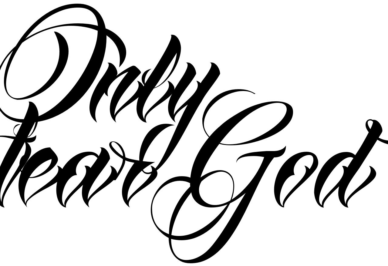 only fear god tattoo script free scetch. Black Bedroom Furniture Sets. Home Design Ideas