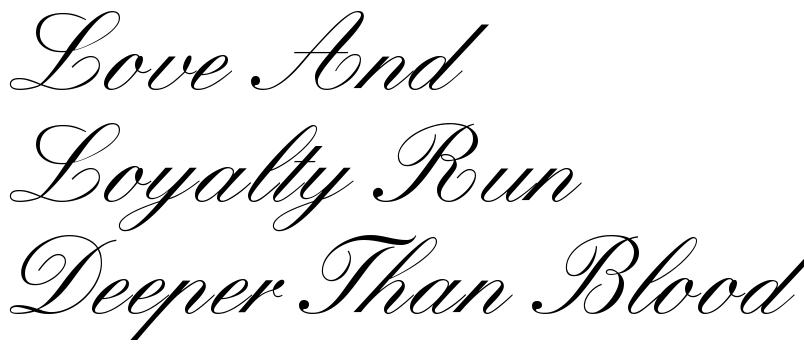 loyalty fonts gallery