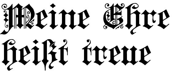 Meine ehre heißt treue tattoo