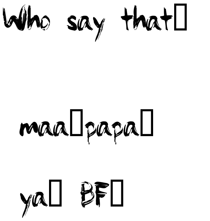 Who Say That Maa Papa Ya Bf Tattoo Lettering Download Free