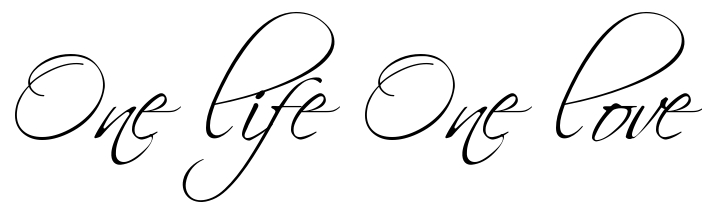 Quot One Life One Love Quot Free Tattoo Lettering Scetch