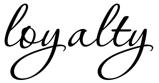 The word respect in cursive