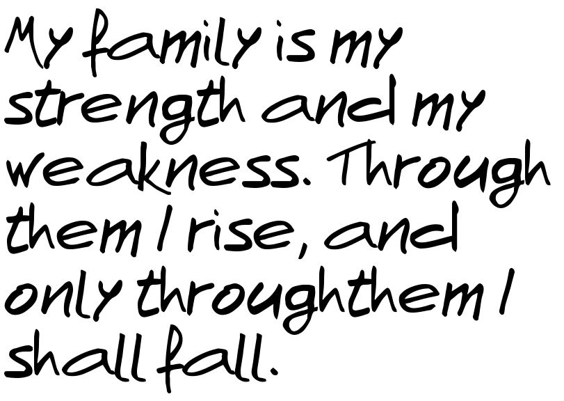 weakness in my family Each family has its own characteristics which make it different amidst others my family for example, has its unique particulars of its own strengths and weaknesses.