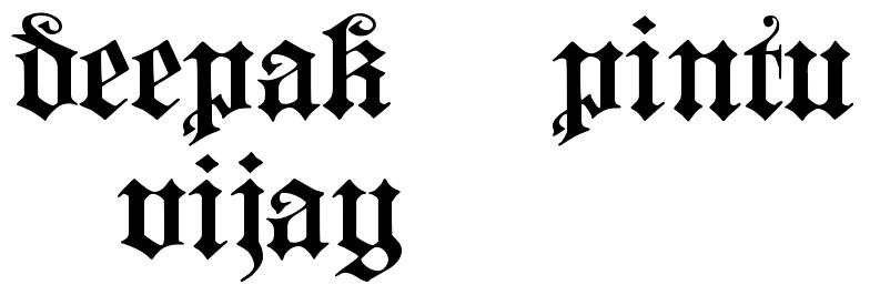 Deepak Pintu Vijay Tattoo Phrase Download Free Scetch