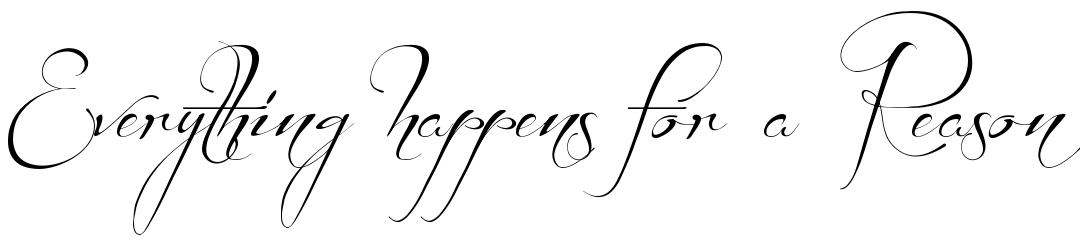Everything happens for a reason tattoo font download free scetch tattoo fonts online urmus Image collections