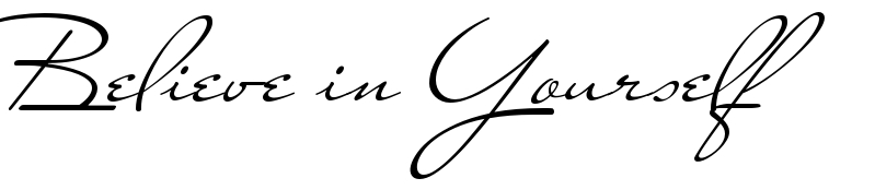Believe In Yourself Tattoo Words Download Free Scetch