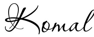 Komal Tattoo Font Download Free Scetch