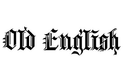 Old english tattoo fonts