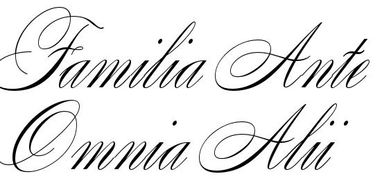 Verbazingwekkend Familia Ante Omnia Alii